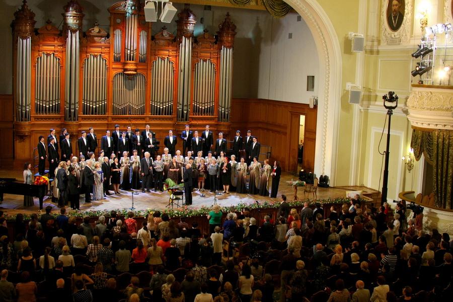 23 в большом зале состоялся гала-концерт, посвящённый 150-летнему юбилею московской консерватории